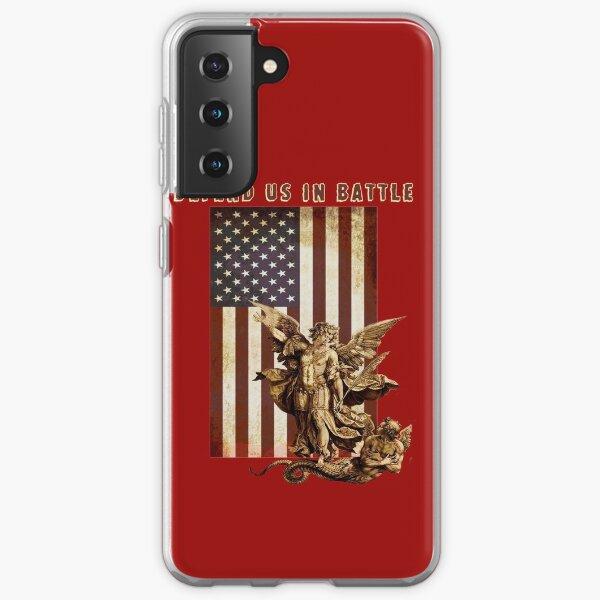 St Michael the Archangel Angel Catholic Saint United States Flag US Samsung Galaxy Soft Case