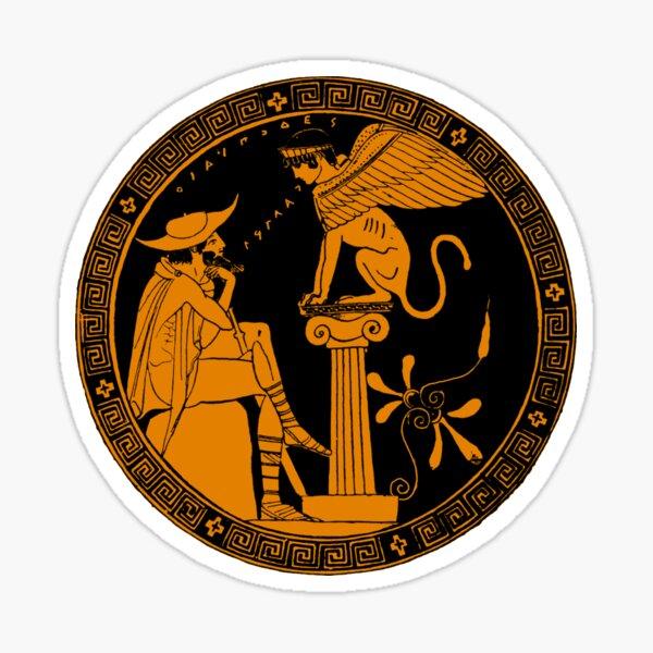 Oedipus and the Sphinx Attic redfigure Sticker