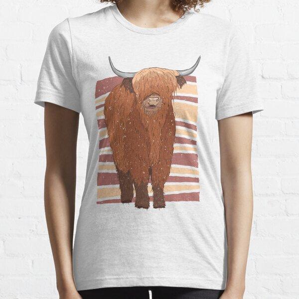 Vaca escocesa de las tierras altas Camiseta esencial