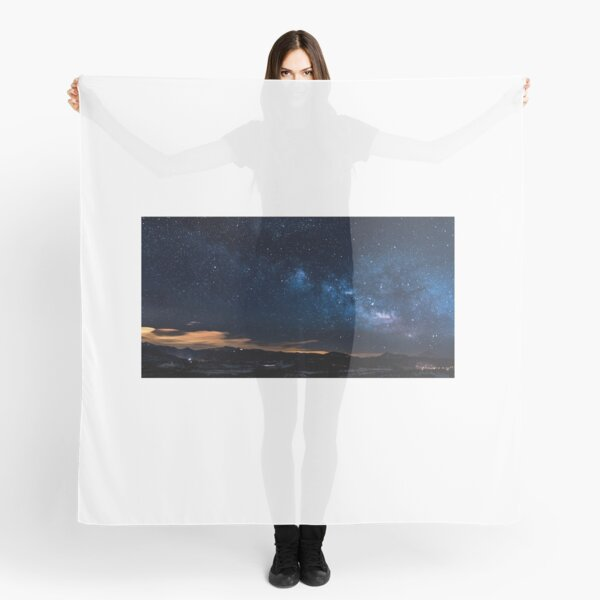 Art Inspired by Nature Art, Illustration, blue, Sky, Landscape, mountain, clouds, stars, beautiful nature Scarf