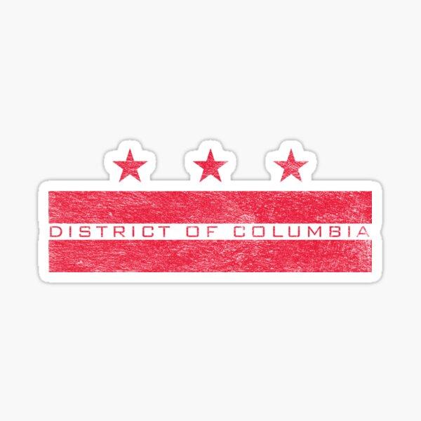 DISTRICT OF COLUMBIA WASHINGTON DC (DISTRESSED) Sticker