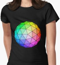 Geodesic Spheres Womens Fitted T-Shirt