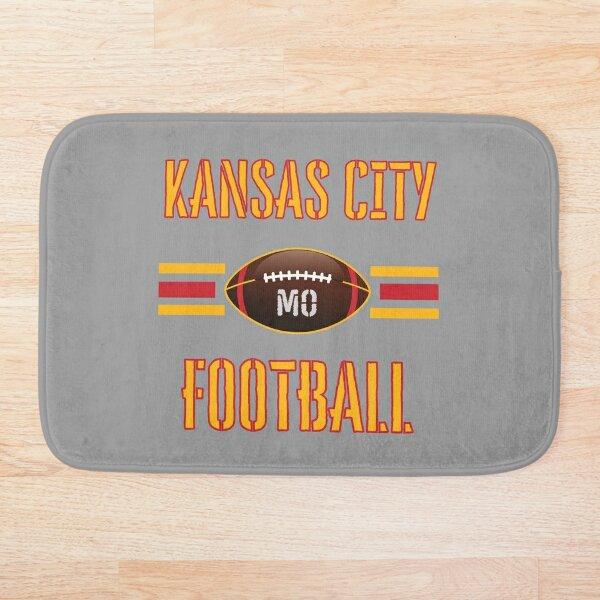 Kansas City Football 2021 v2 (Gray)   Sports Jersey Bath Mat