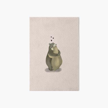 Cute hugging bears Art Board Print