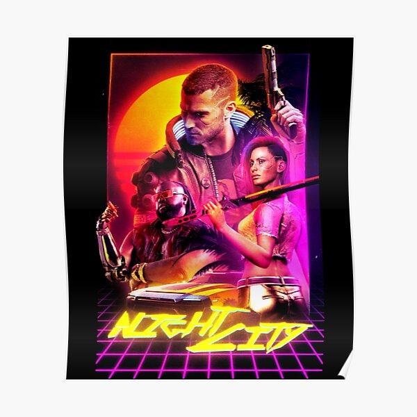 Cyberpunk Outrun - NIGHT CITY Poster
