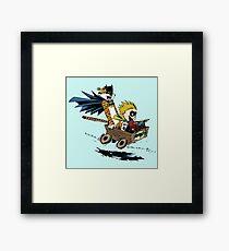 Calvin Hobbes Explore Framed Print