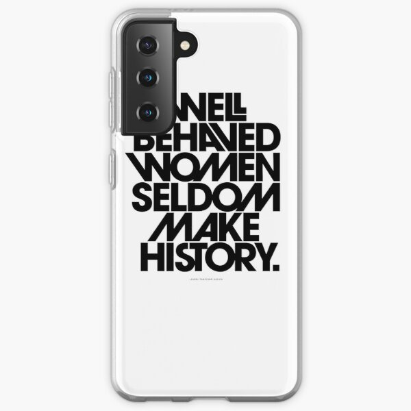 to black and pink quote Samsung Galaxy Soft Case