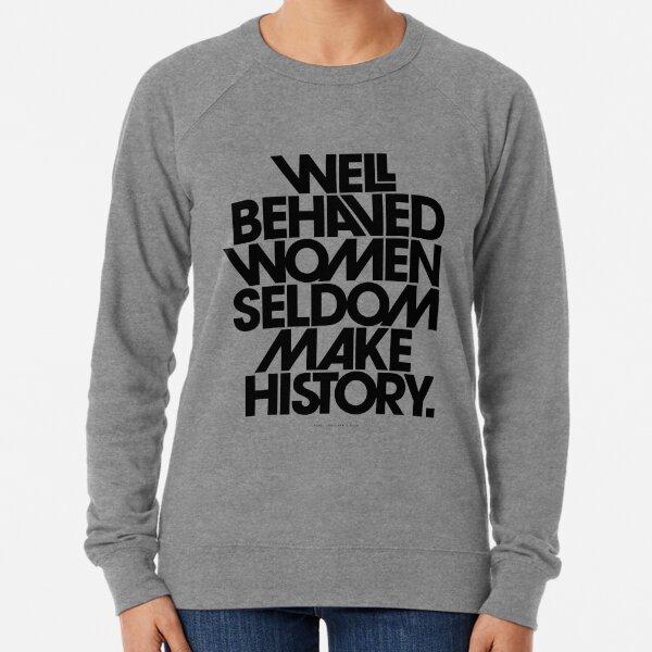 to black and pink quote Lightweight Sweatshirt