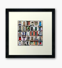 Thirty Doors Framed Print