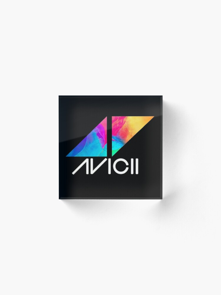 Alternate view of ◢◤Avicii Logo Acrylic Block