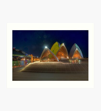 Opera House and Forecourt Art Print