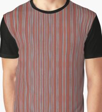 """""""Grey and terracotta stripes"""" abstract pattern, pastel, grey and terracotta, earth tones Graphic T-Shirt"""