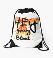 "Phoenix- Fall Out Boy ""Hey Young Blood"" Design  Drawstring Bag"