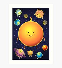 Space Friends Art Print