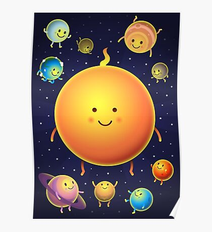 Space Friends Poster