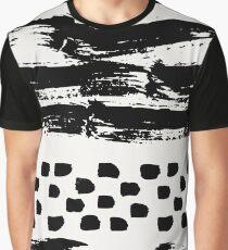 Brush Stroke Waves Graphic T-Shirt