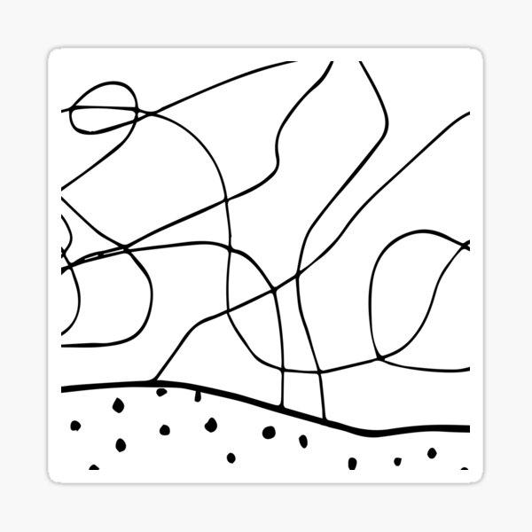 lines & dots Sticker