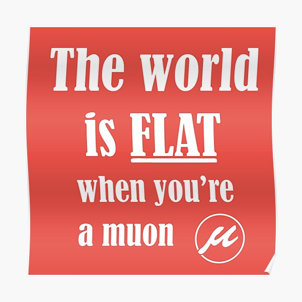 The world is flat Poster