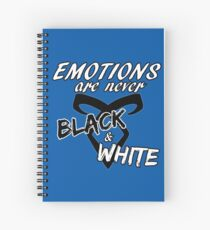 Shadowhunters - Malec quote : Emotions are never black and white  Spiral Notebook