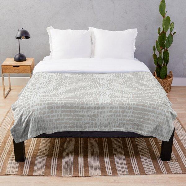 Japandi Ivory Organic Pattern Throw Blanket
