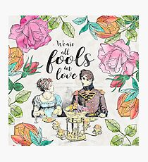 Pride and Prejudice - Fools in Love Photographic Print