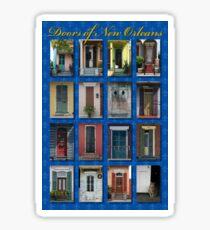 Doors of New Orleans Sticker