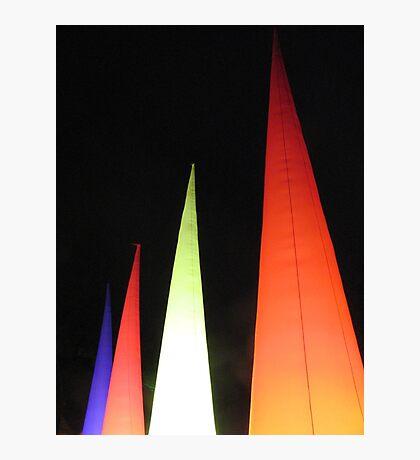 Coloured cones Photographic Print