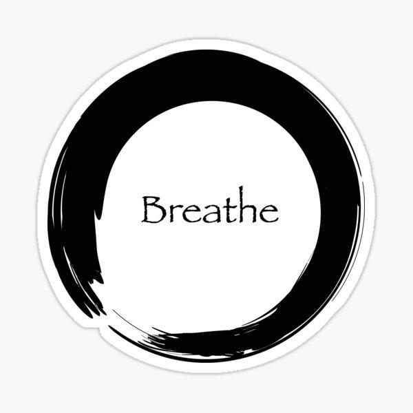 Breathe Symbol of Zen Sticker