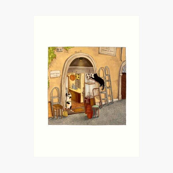 Journal of a Cat in Rome - Casalinghi Shop Art Print