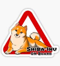 SHIBA INU ON BOARD Sticker