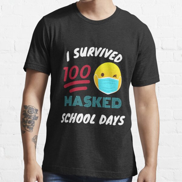 2021 Teacher Shirt Gift Happy 100th Day of School Quarantine Masks COVID Pandemic I Zoomed Through The First 100 Days of School