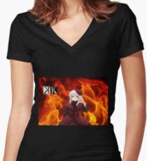 Anna Fire Women's Fitted V-Neck T-Shirt
