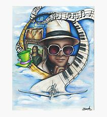 Elton John Piano Man Art Photographic Print