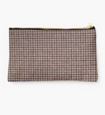 Brown Tweed fabric texture Studio Pouch