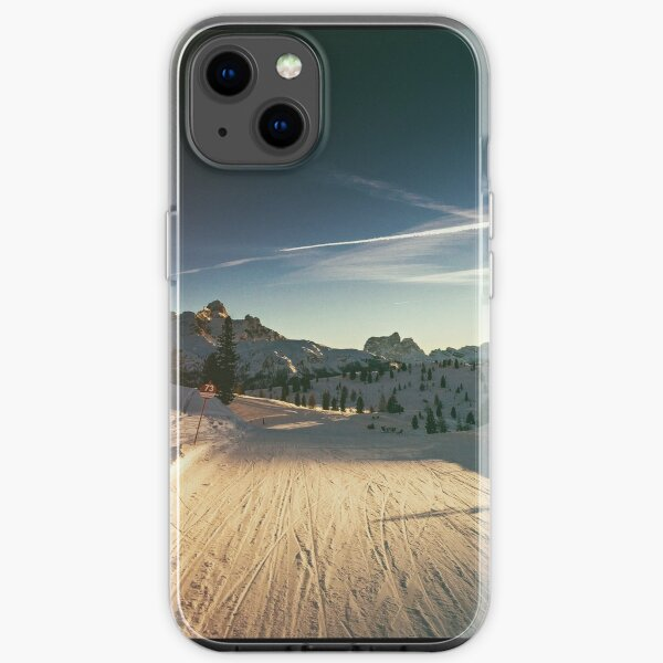 late on the ski slope iPhone Soft Case