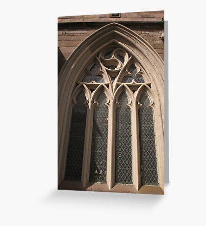 St John's Kirk window Greeting Card