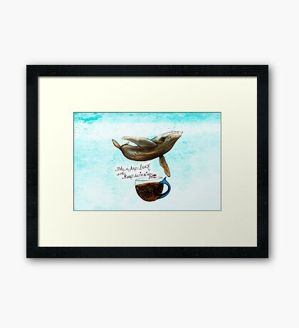 What my Coffee says to me April 8, 2016 Framed Print