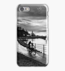 two bikes next to Salzach river of Salzburg iPhone Case/Skin
