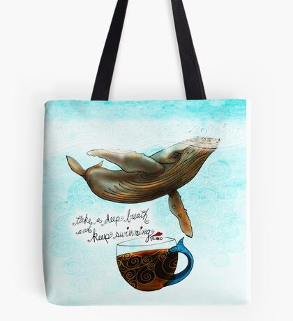 What my Coffee says to me April 8, 2016 Tote Bag