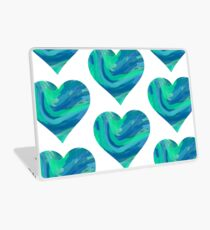 blank cool colored heart Laptop Skin