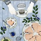 Blueberry Scones by Yuliya Art