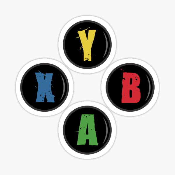 Botones X Box - Estilo Grunge Pegatina
