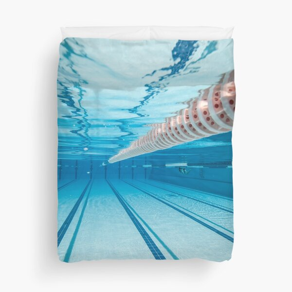 This Is My Life, This Is My Sport, Swimming Pool Duvet Cover