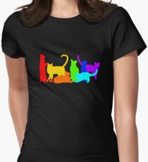 Rainbow Cats Women's Fitted T-Shirt