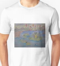 Frippy the Frog eyeing up his lunch Unisex T-Shirt