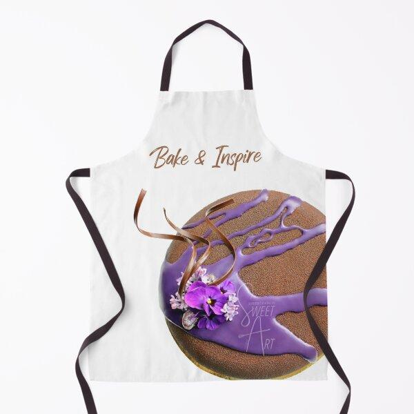 Modern Chocolate Cake with Spring Flowers ~ SweetArt Studio Merch Apron