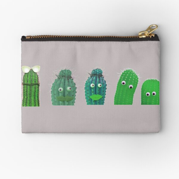 Funny Cactus Hipster Gift For Cactus Lovers Zipper Pouch