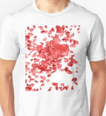Red hearts on white background T-Shirt