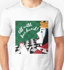 Alice in Wonderland Queen of Hearts yells off with her head T-Shirt