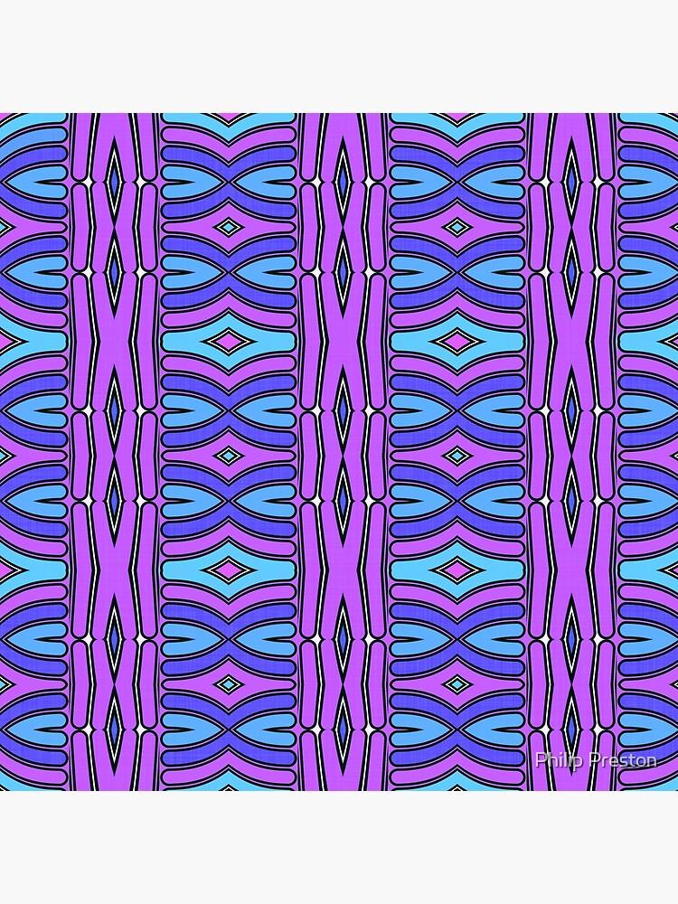 Modern Geometric Pattern Blue Purple Design 1347 by prestonphoto